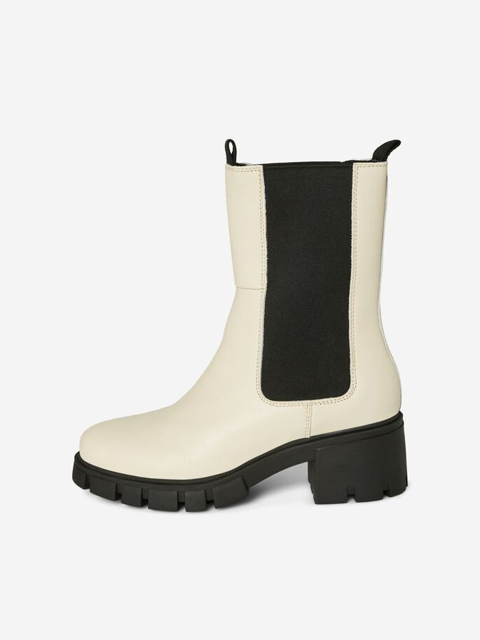 LEATHER BOOTS, Birch, large