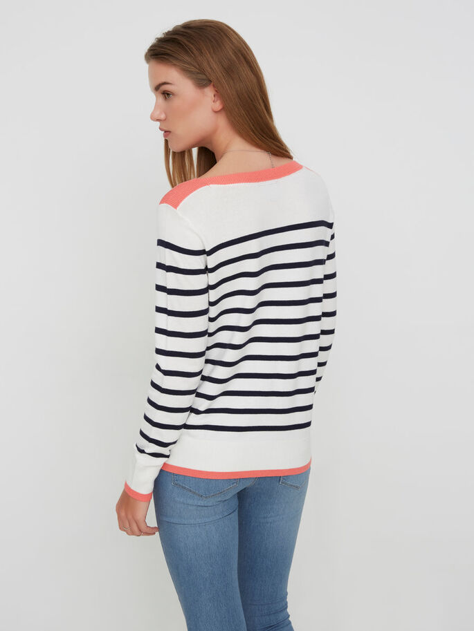 LONG SLEEVED PULLOVER, Snow White, large