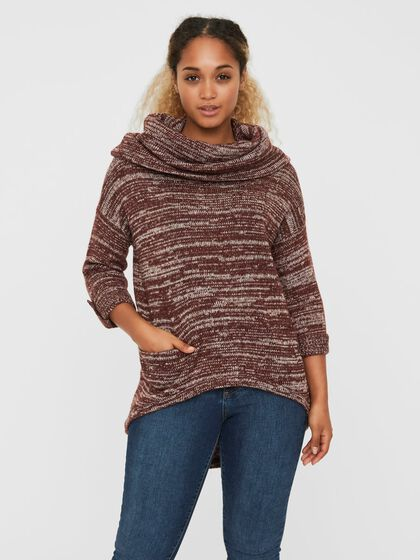 COWLNECK KNITTED PULLOVER