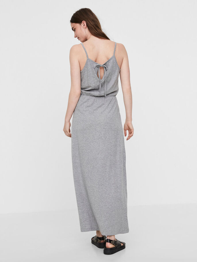 SUMMER MAXI DRESS, Light Grey Melange, large