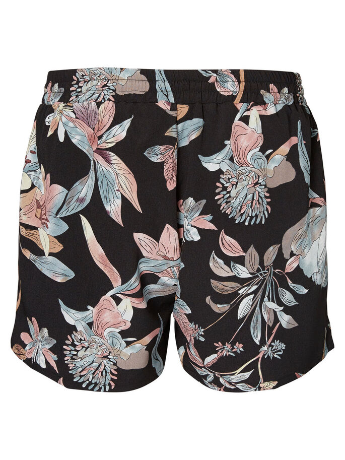 FLOWER SHORTS, Black, large