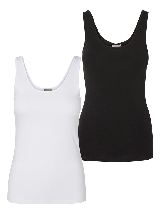 2ER-PACK MIT WEICHEM TANK TOP, Bright White, large