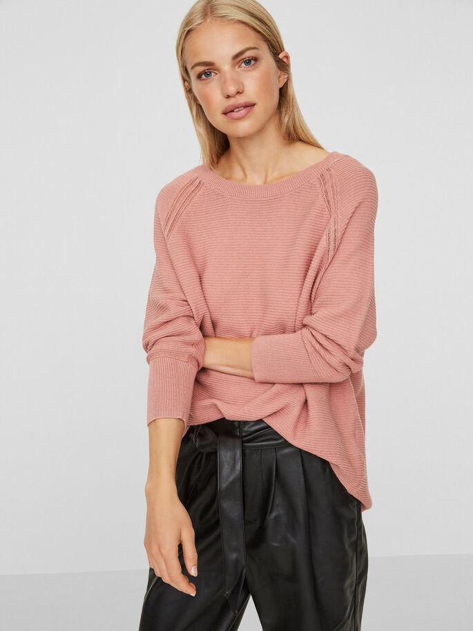 CASUAL 3/4 SLEEVED BLOUSE, Ash Rose, large