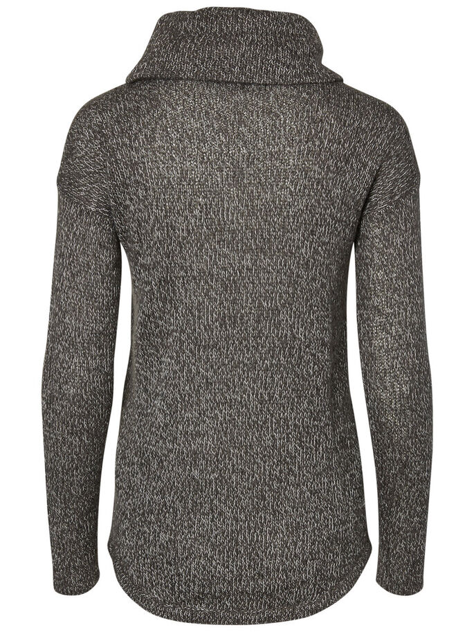 LONG SLEEVED KNITTED PULLOVER, Asphalt, large