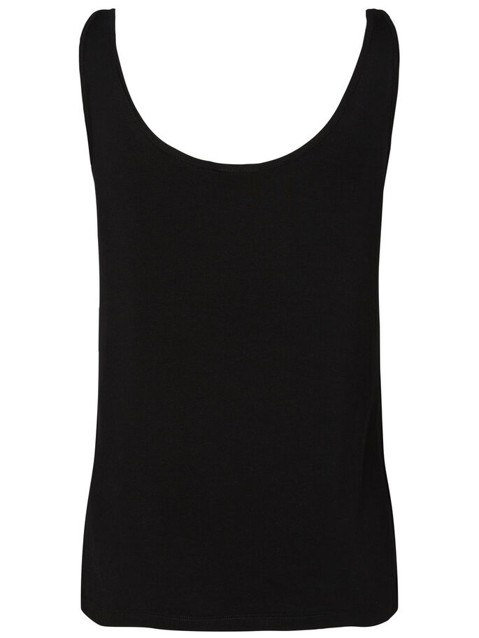 CASUAL TANK TOP, Black, large
