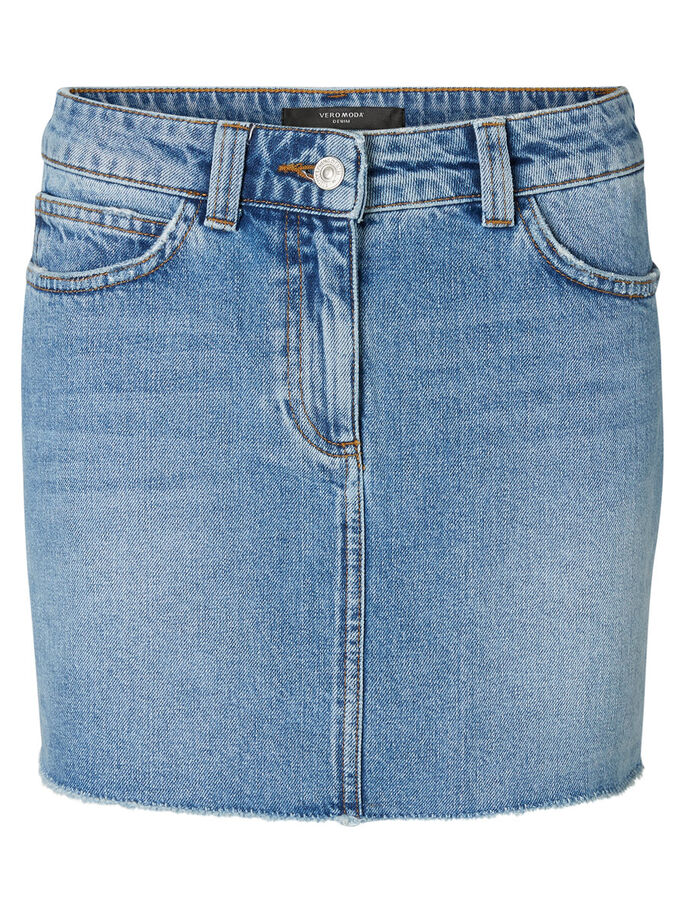 MM/VM JUPE EN JEAN, Light Blue Denim, large