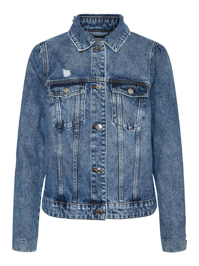 JEAN VESTE, Medium Blue Denim, large