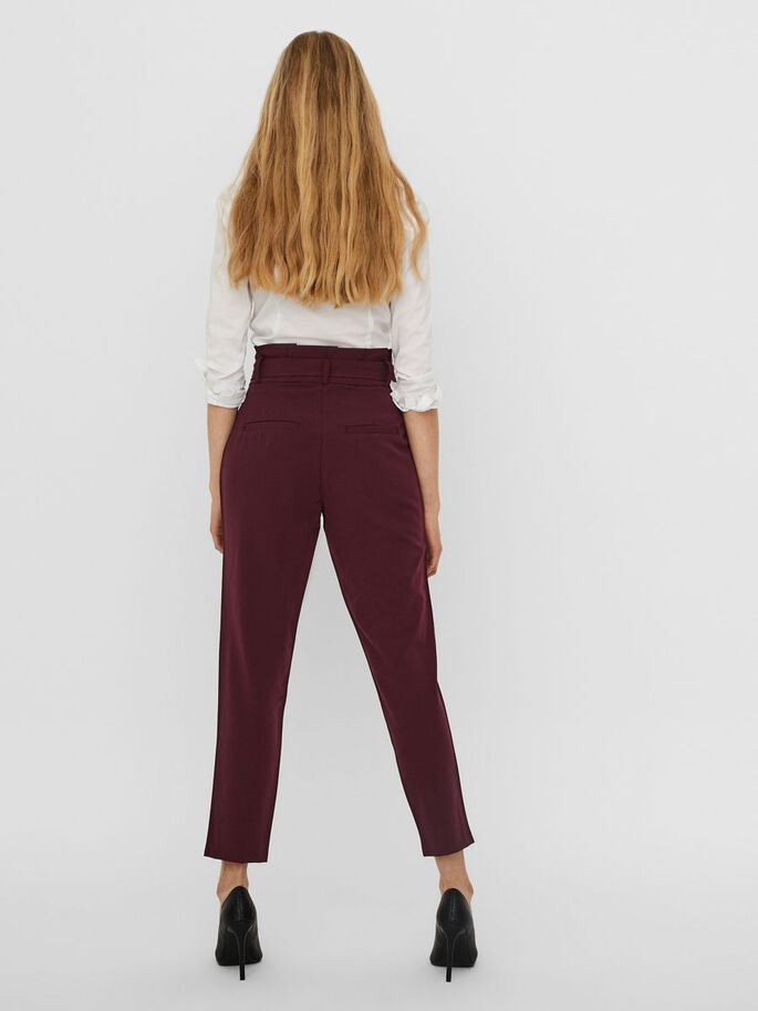 HIGH WAIST PAPERBAG TROUSERS, Port Royale, large