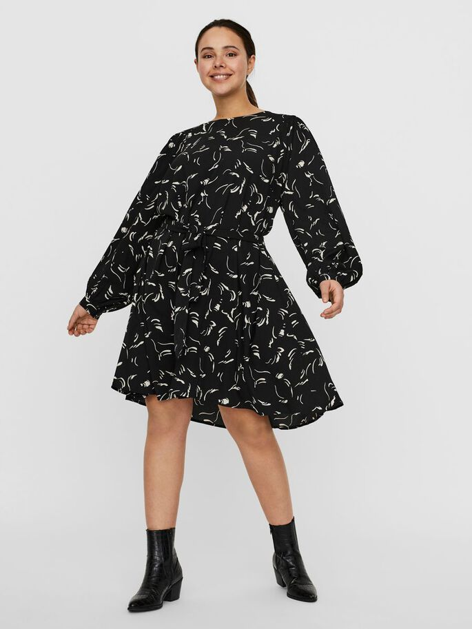 IMPRIMÉ MINI-ROBE, Black, large