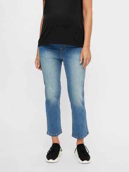 CROPPED  LOOSE FIT MATERNITY JEANS