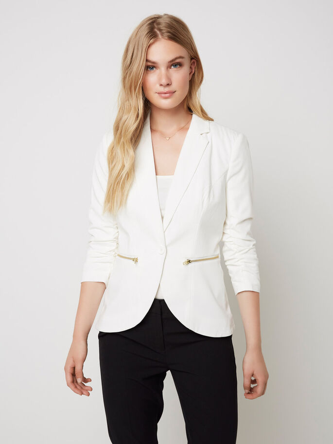 MANCHES 3/4 BLAZER, Snow White, large