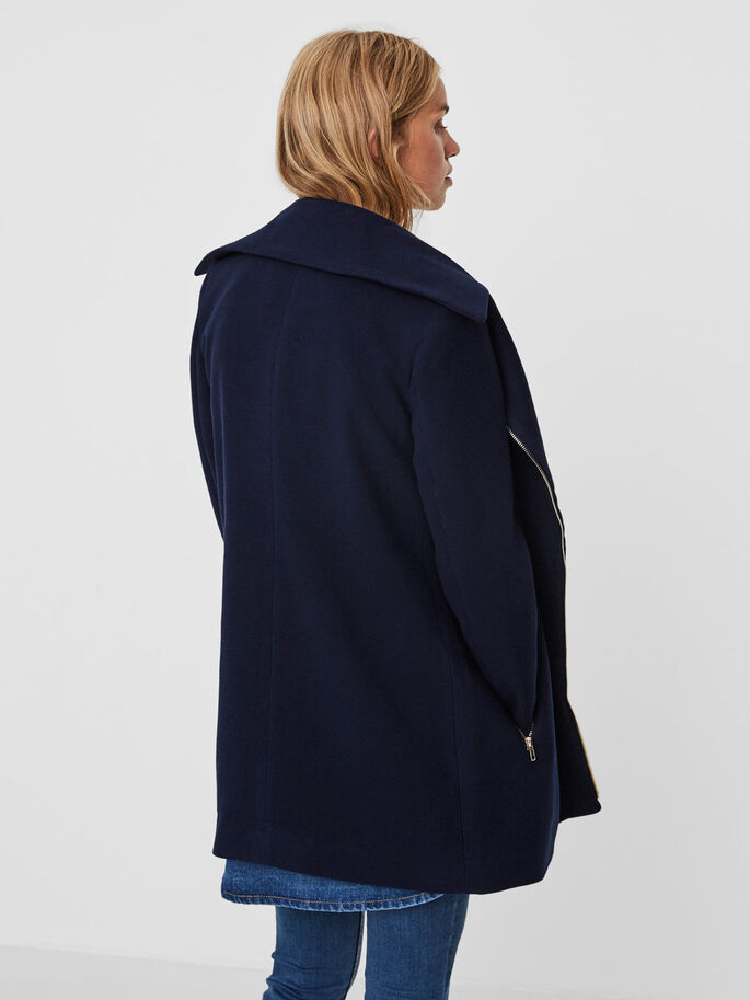 FEMININE JACKET, Navy Blazer, large