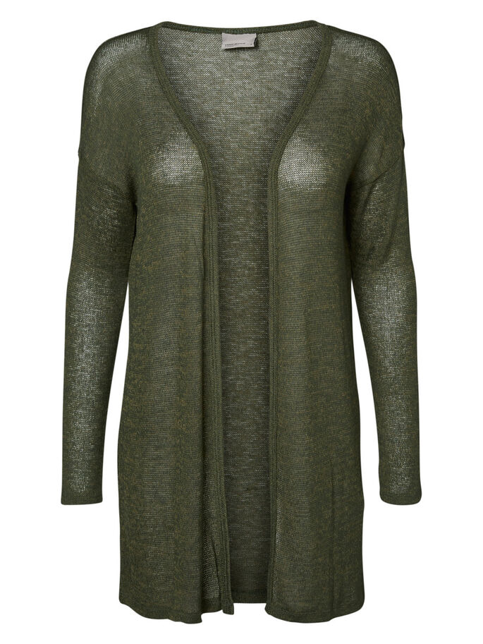 LANGE STRICKJACKE, Kombu Green, large
