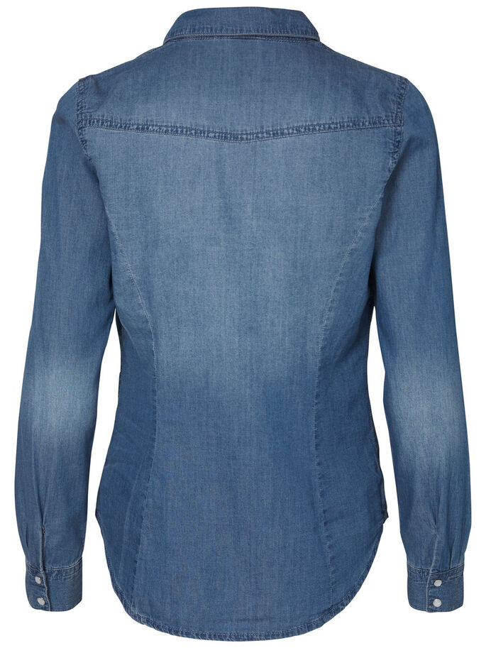 DENIM CHEMISE À MANCHES LONGUES, Medium Blue Denim, large