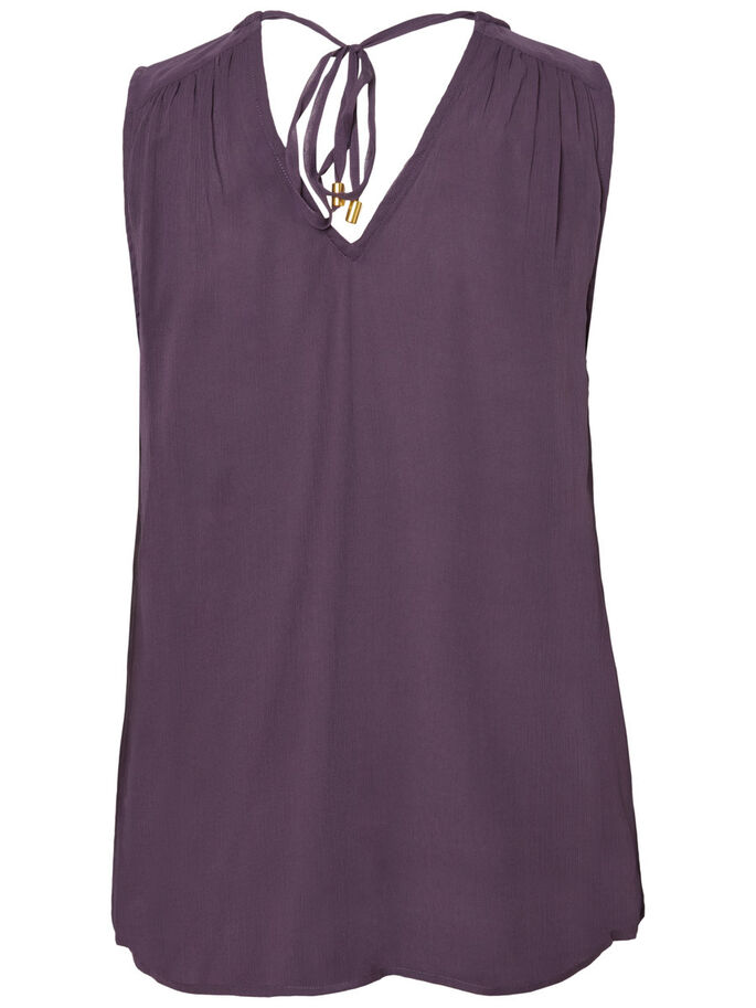 PEARLY SLEEVELESS TOP, Nightshade, large