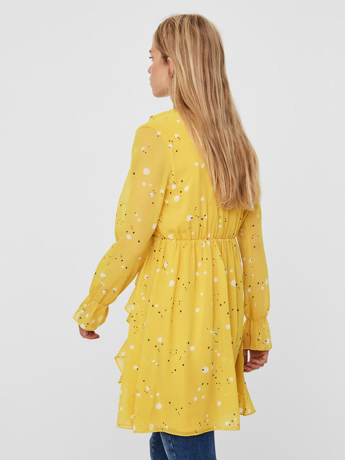 FEMININ RYSJE KJOLE, Lemon Curry, large
