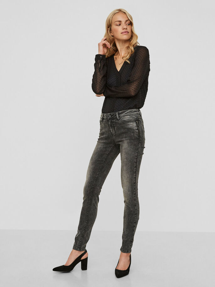 SEVEN NW SKINNY JEANS, Dark Grey Denim, large