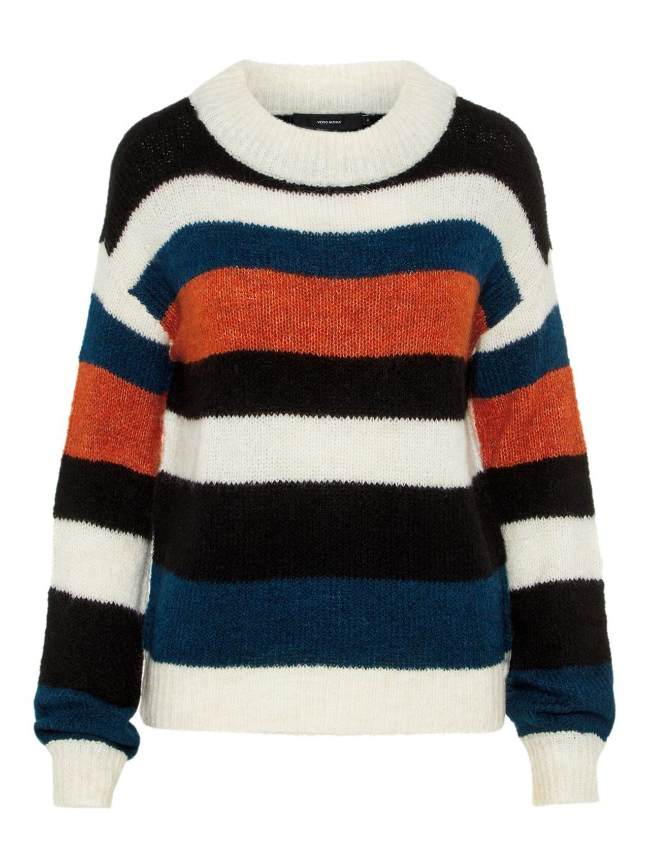 Striped Knitted Pullover Women blue