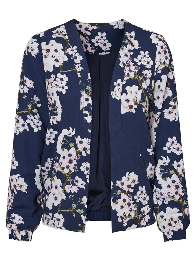FLOWER JACKET, Navy Blazer, large