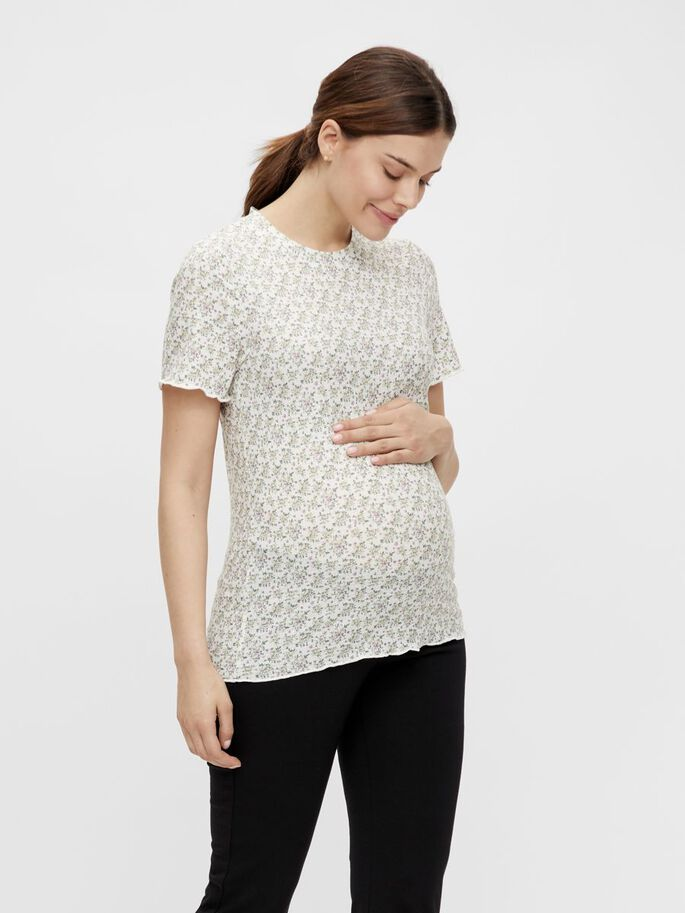 MLASTRID MATERNITY TOP, Snow White, large