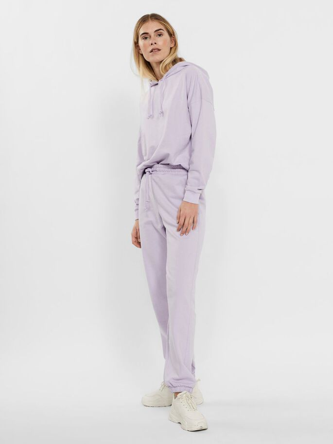 HIGH WAISTED SWEATPANTS, Pastel Lilac, large