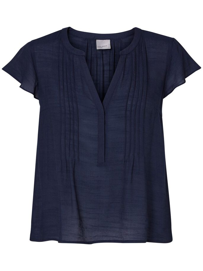 CASUAL SHORT SLEEVED TOP, Navy Blazer, large