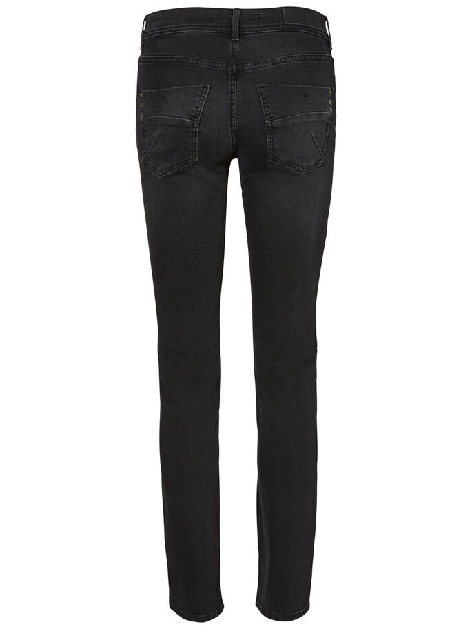 TAMMIE NW STRAIGHT FIT JEANS, Black, large