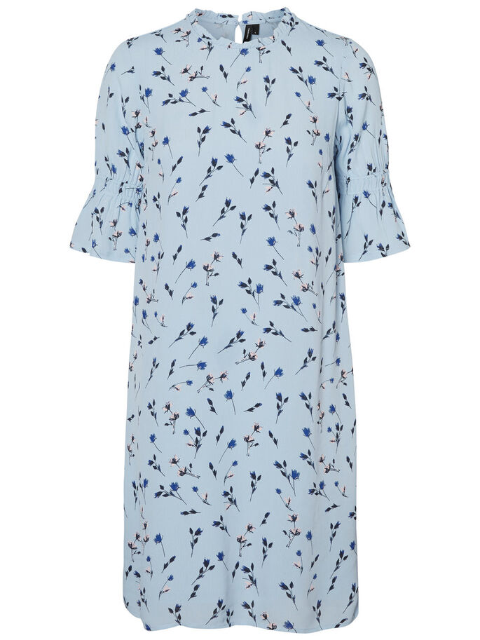 CASUAL SHORT SLEEVED DRESS, Cashmere Blue, large
