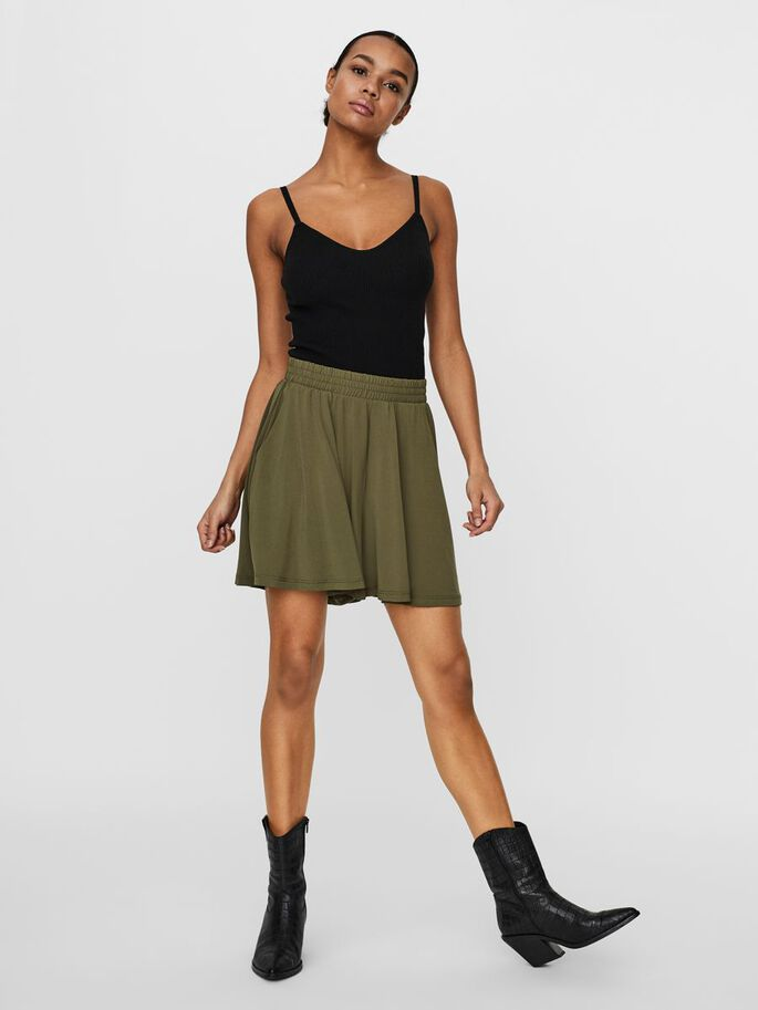 HIGH WAISTED SHORTS, Ivy Green, large