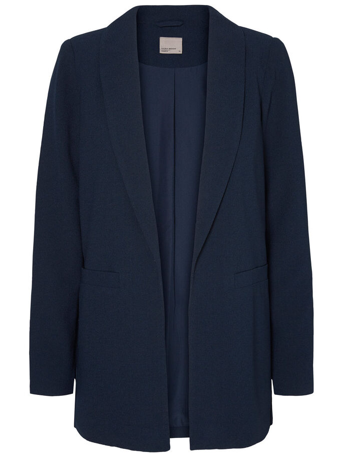 LOOSE FIT BLEISERI, Navy Blazer, large