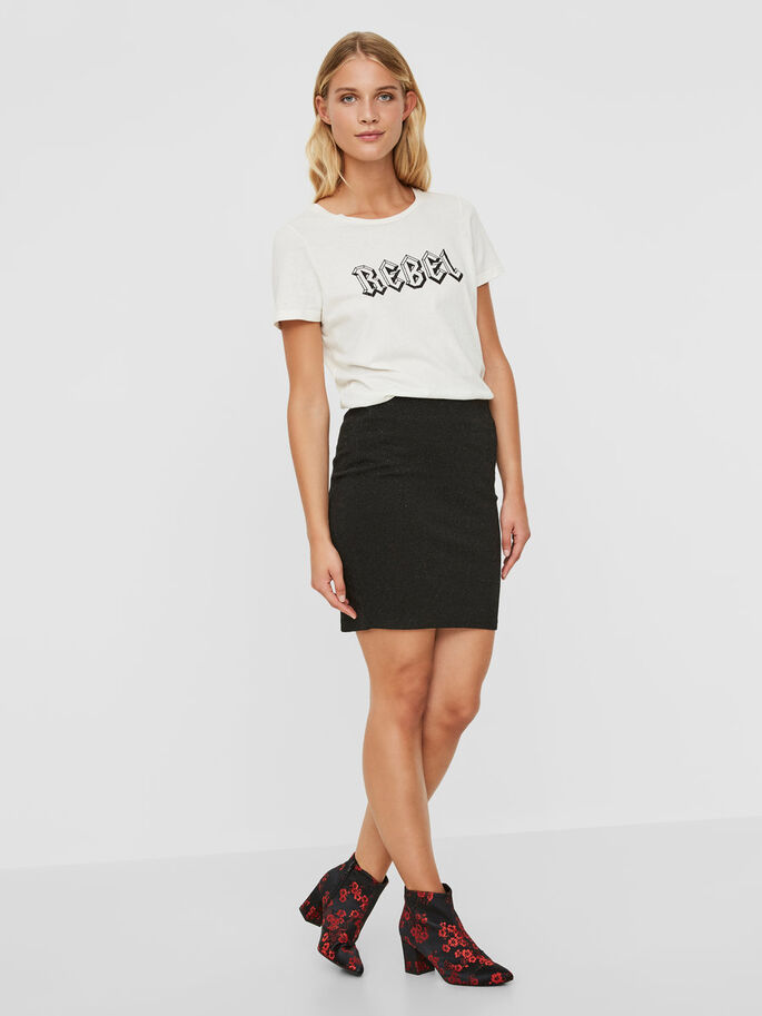 NW SKIRT, Black, large