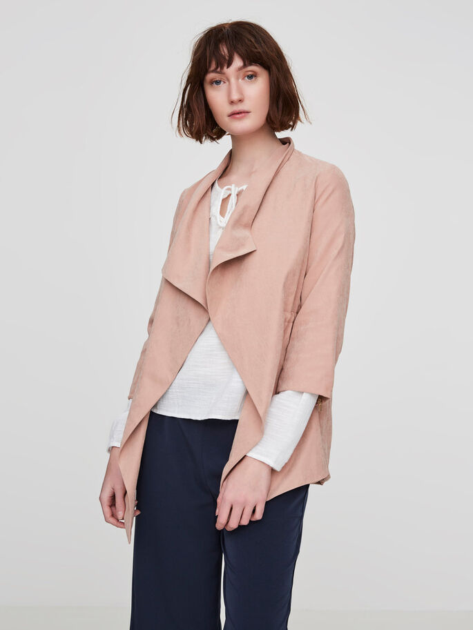 3/4 SLEEVED BLAZER, Café Au Lait, large
