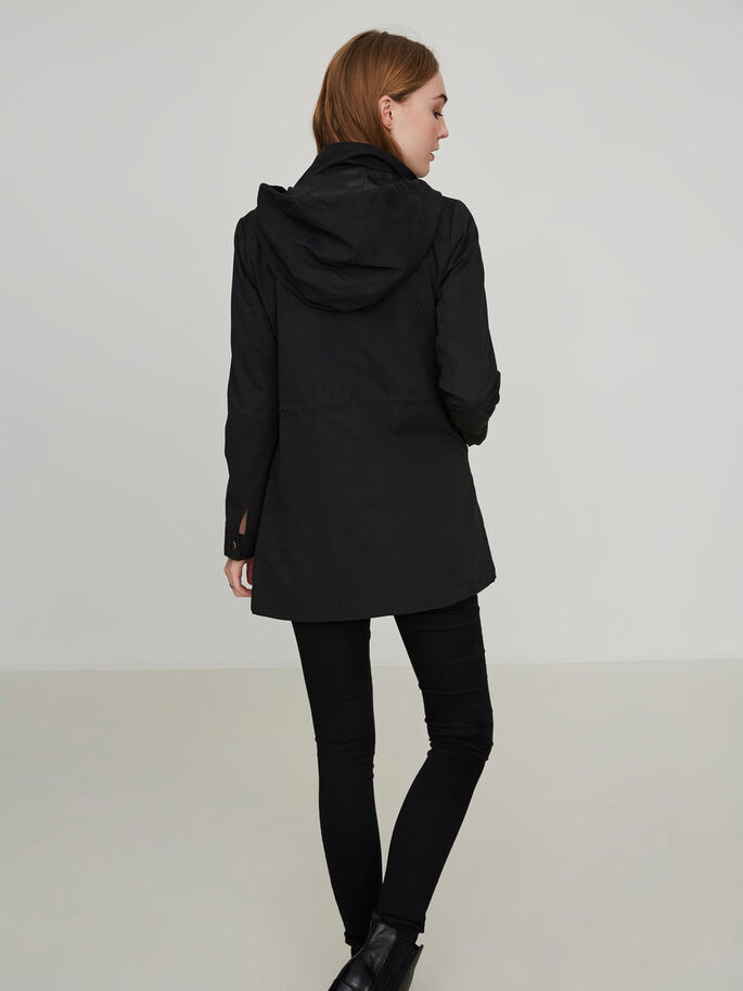 TRANSITIONAL PARKA COAT, Black Beauty, large