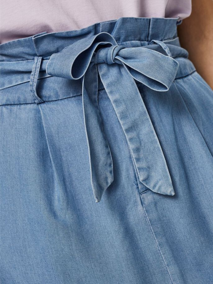 HIGH-WAIST ROK, Light Blue Denim, large