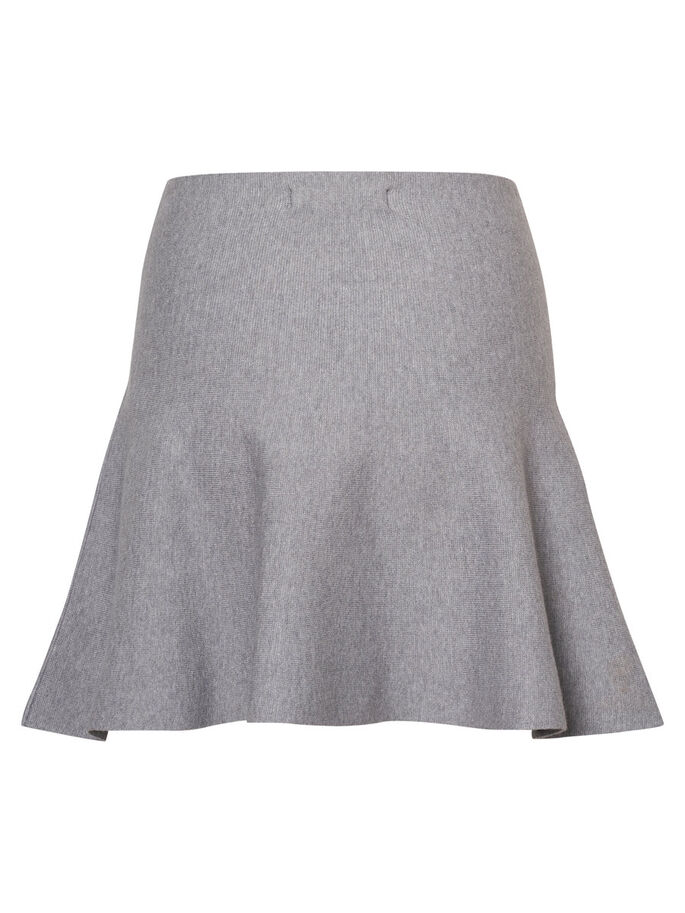 KNITTED SKIRT, Medium Grey Melange, large