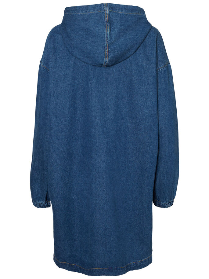DENIM DRESS, Medium Blue Denim, large