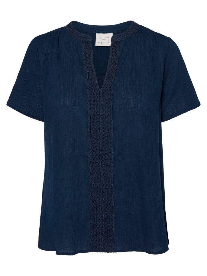 CASUAL TOP À MANCHES COURTES, Navy Blazer, large