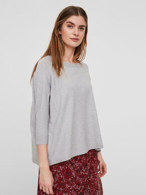 LOOSE FIT 3/4 SLEEVED BLOUSE
