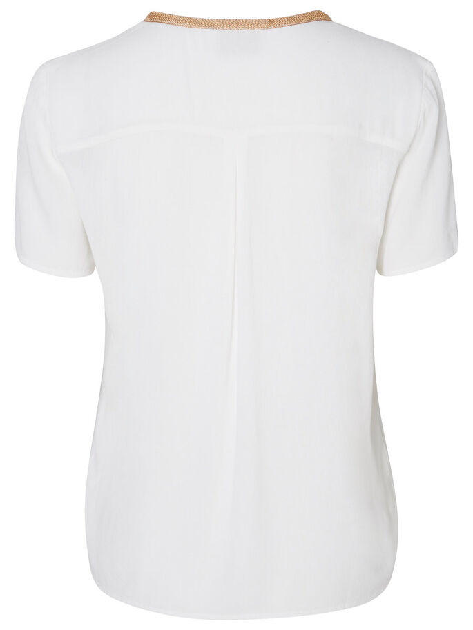 DETAILED SHORT SLEEVED TOP, Snow White, large
