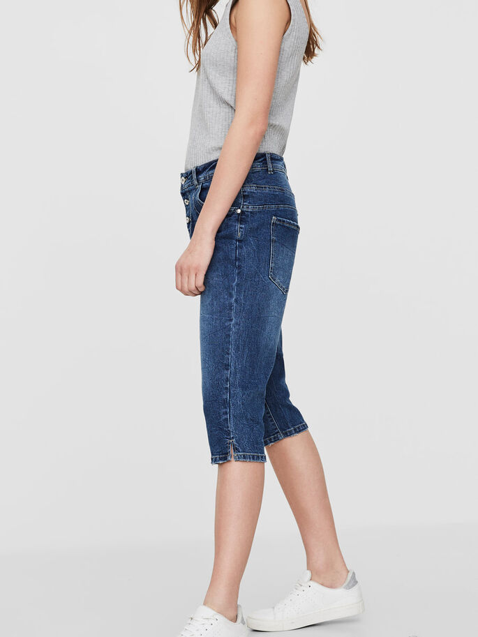 ANTIFIT LW CAPRIS, Medium Blue Denim, large