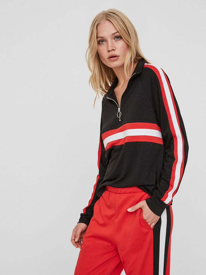 SPORTY PULLOVER, Black, large