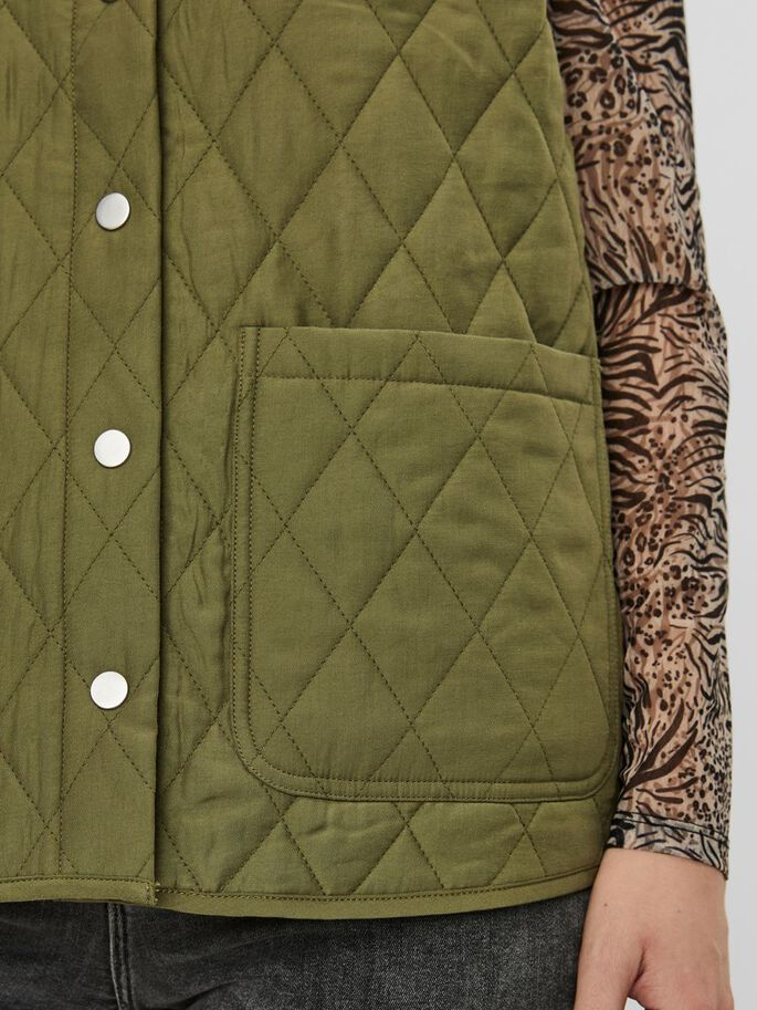 QUILTED VEST, Ivy Green, large