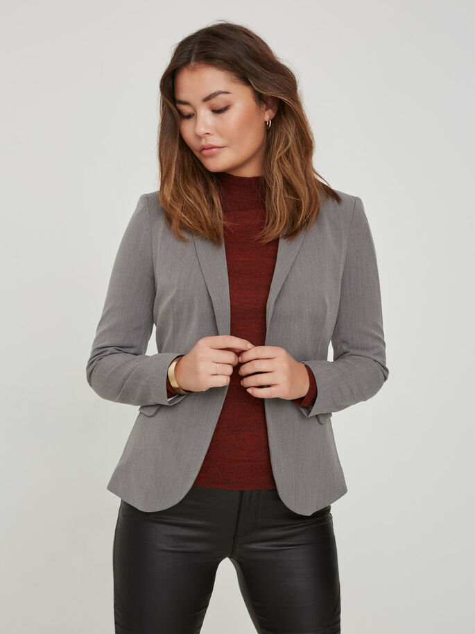 CLASSIC BLAZER, Medium Grey Melange, large