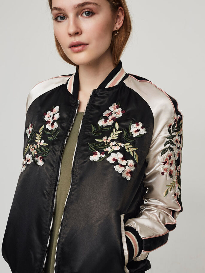 BOMBER JACKET, Black Beauty, large