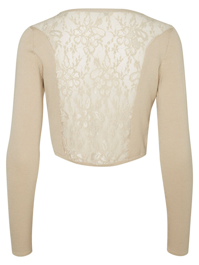 LACE BOLERO, Oatmeal, large