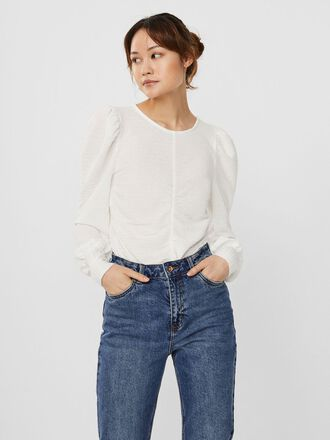 ROUCHING LONG SLEEVED TOP