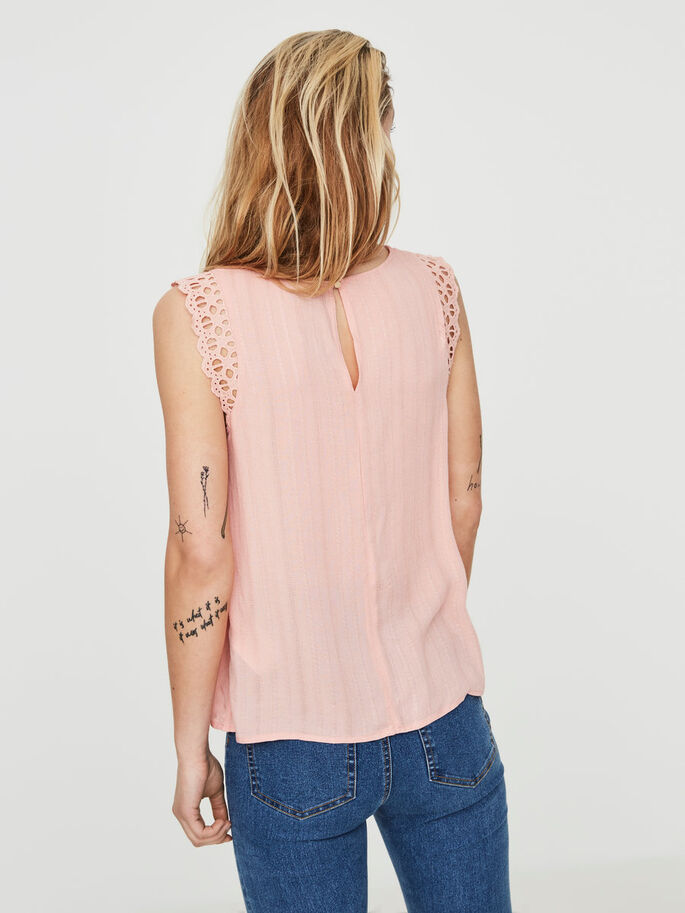 FEMININE SLEEVELESS TOP, Coral Cloud, large