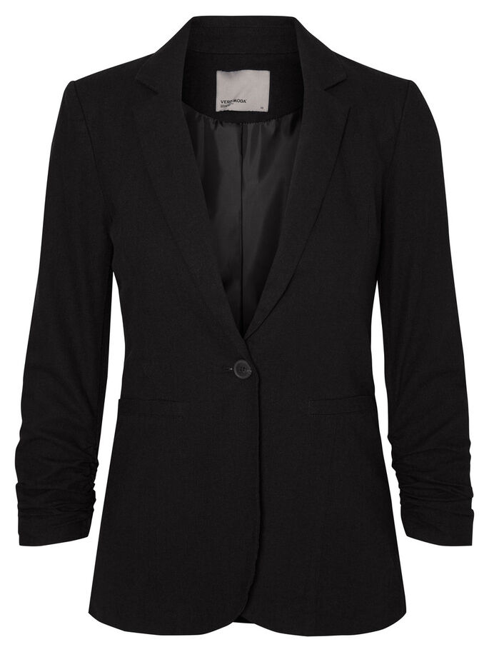 LIN BLAZER, Black, large