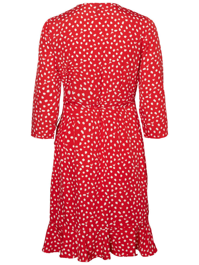 HENNA DOT DRESS, Lychee, large