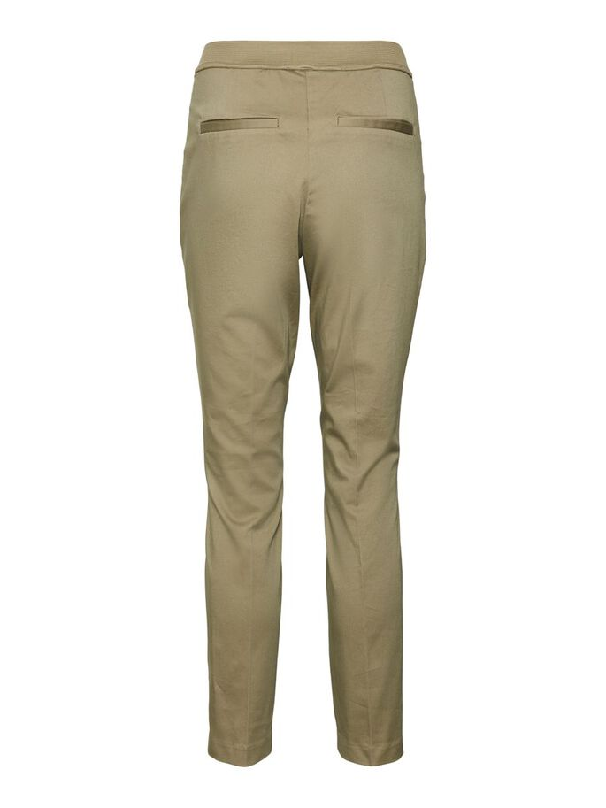 NORMAL WAIST TROUSERS, Covert Green, large
